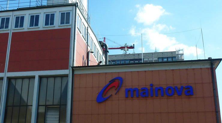 Das Mainova Heizkraftwerk in den Innenstadt von Frankfurt.